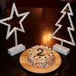 Panička udělala celkem obstojný dort