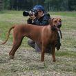 Dvorní fotografka se svým psíkem
